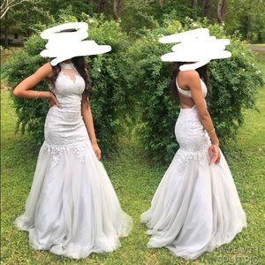Silver Prom Dress Size 2